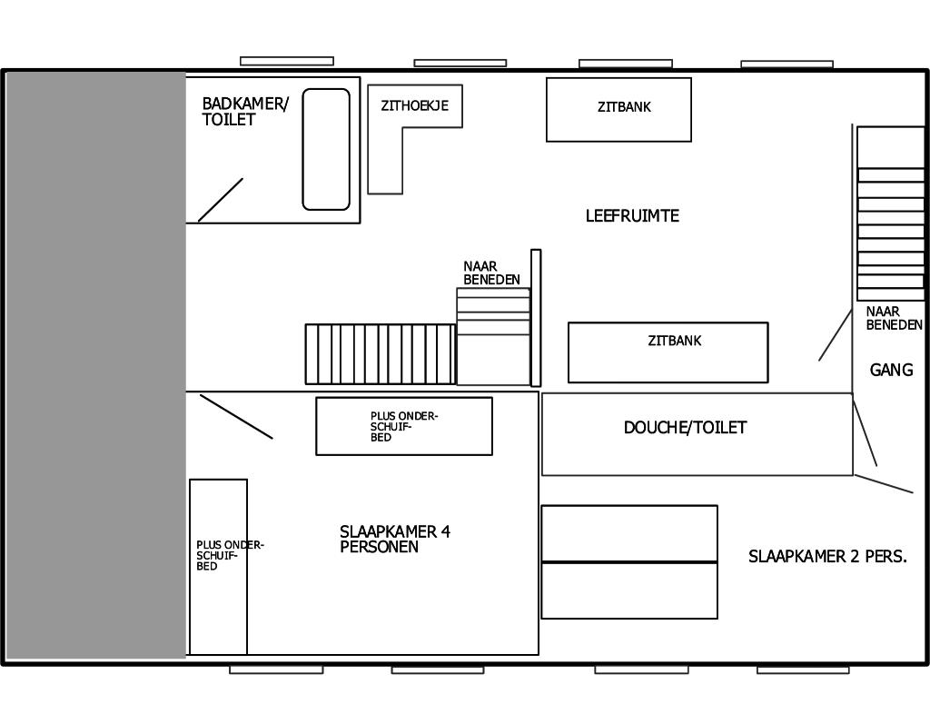 Plattegrond keuken tekenen plattegrond van een woonkamer for Inrichting tekenen